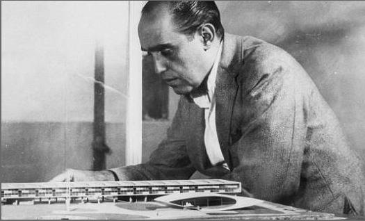 Maquete do Colégio Estadual e Oscar Niemeyer