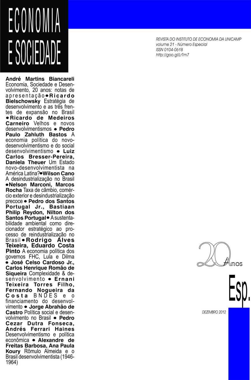 Numero especial E&S dez 2012