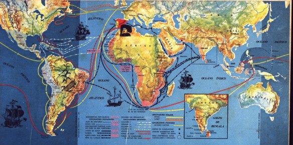Mapa das Grandes Navegações