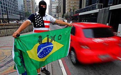 Brasil a direita no protesto