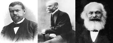 Durkheim, Weber e Marx