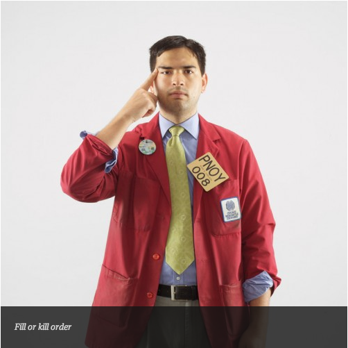 Gestual trader - fill or kill order