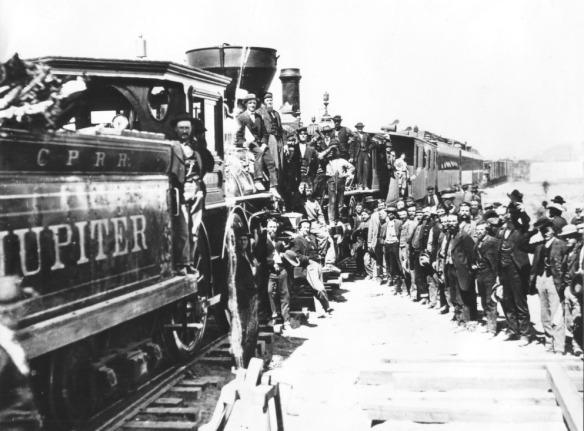 Primeira Ferrovia Transcontinental em 1869