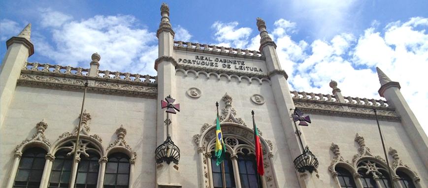 Fachada do Real Gabinete Português de Leitura