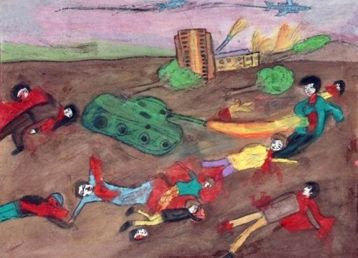 Desenho de Criança de Gaza