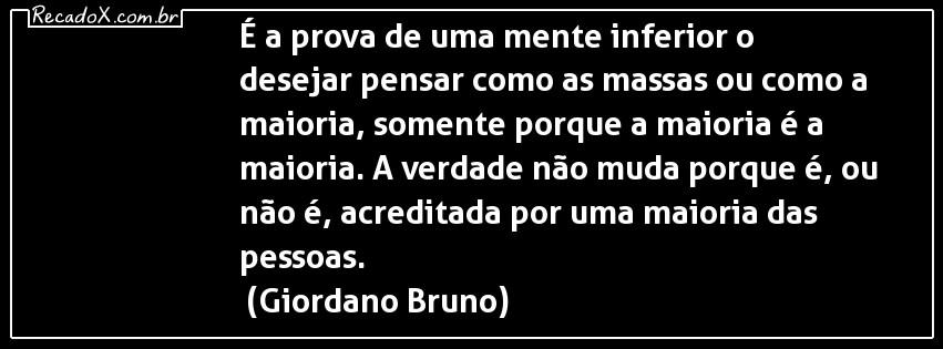 Citação de Giordano Bruno