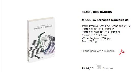 Primeira Reimpressão Brasil dos Bancos