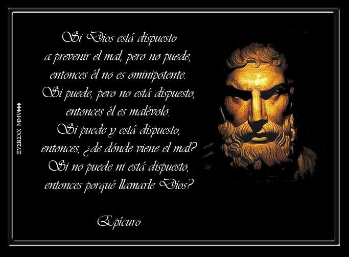 epicuro X dios