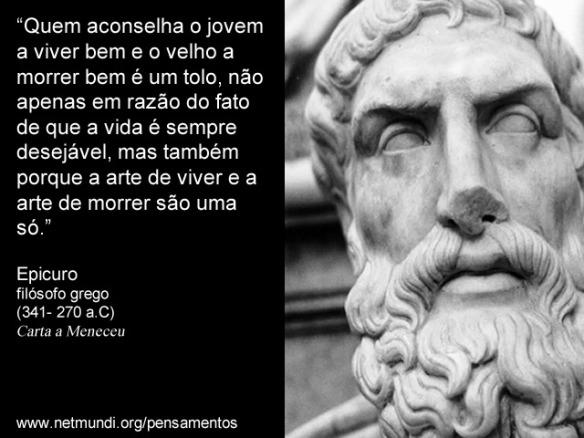 Fragmeto da Carta de Epicuro a Meneceu