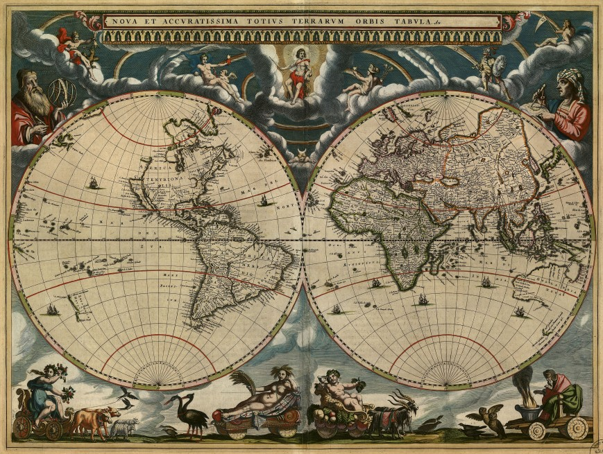 Map of the World 1684