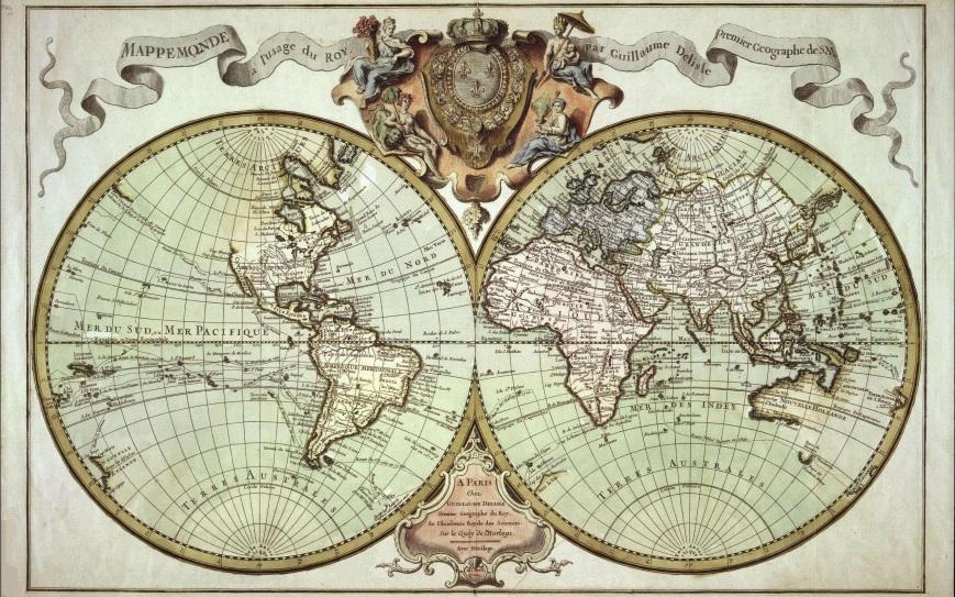 Mappe Monde de l'usafe du Roy