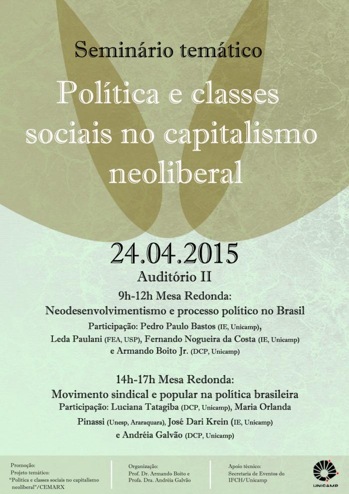 24-04- cartaz seminário temático- politica e classes sociais
