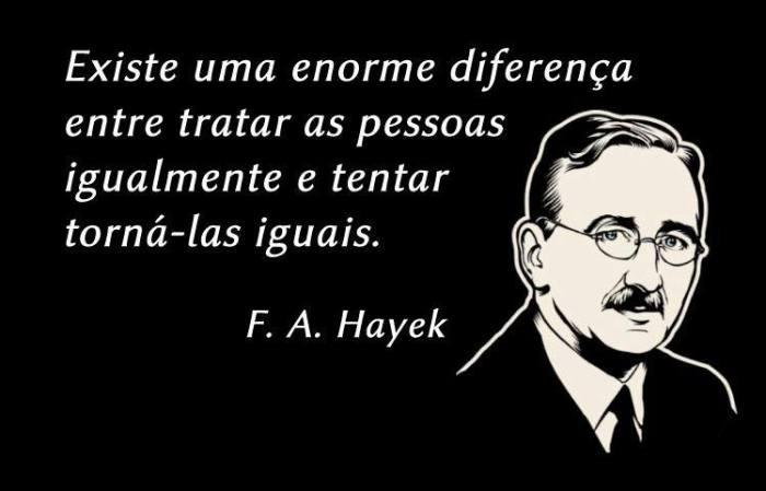 Hayek e a Igualitarismo