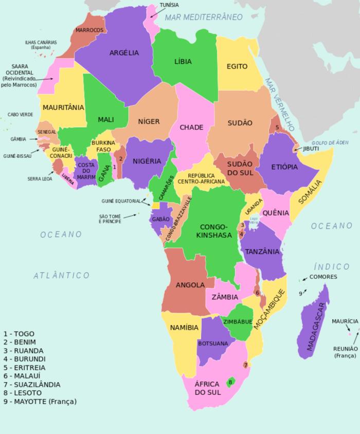 Divisão Política da África