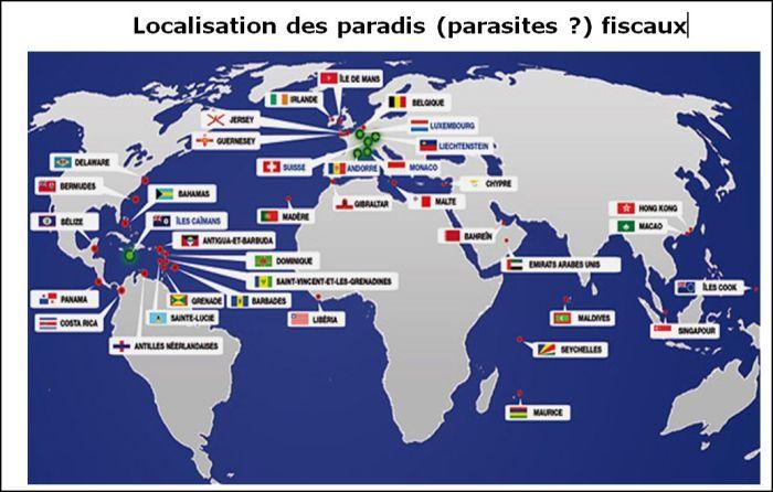 Localização de paraísos fiscais