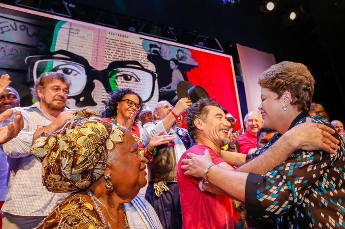 Rio de Janeiro - RJ, 15/09/2014. Dilma Rousseff durante o encontro com Artistas. Foto: Ichiro Guerra