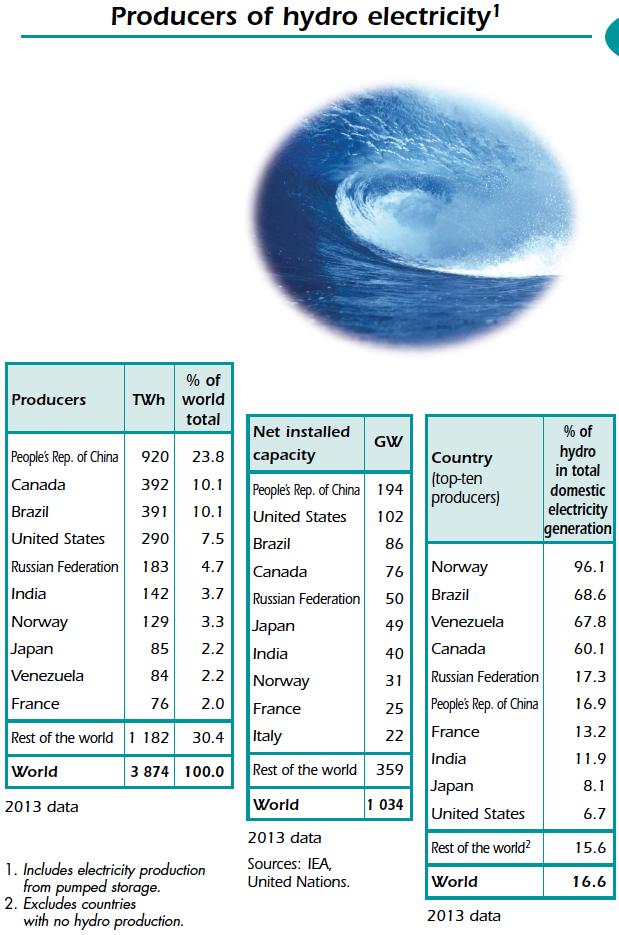 Produtores de Hidroeletricidade