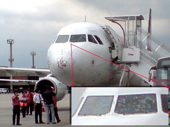 dano em avião