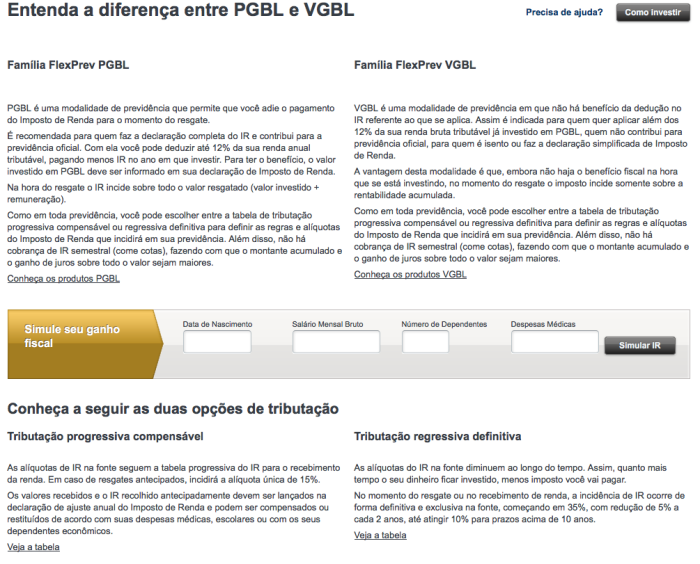 Entenda a diferença entre PGBL E VGBL