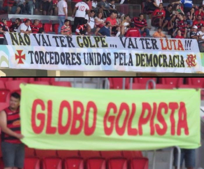 Campanha anti golpista em estádio