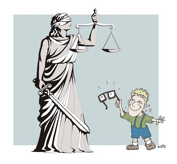Justiça X óculos