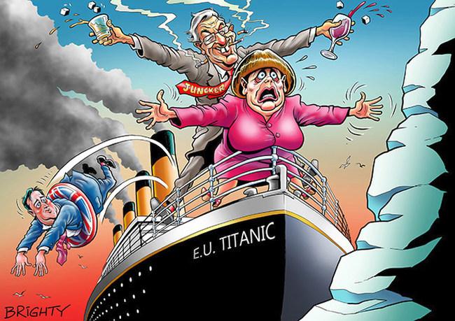 Brexit-EU Titanic